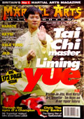 Liming Yue on the cover of Martial Arts Illustrated magazine.